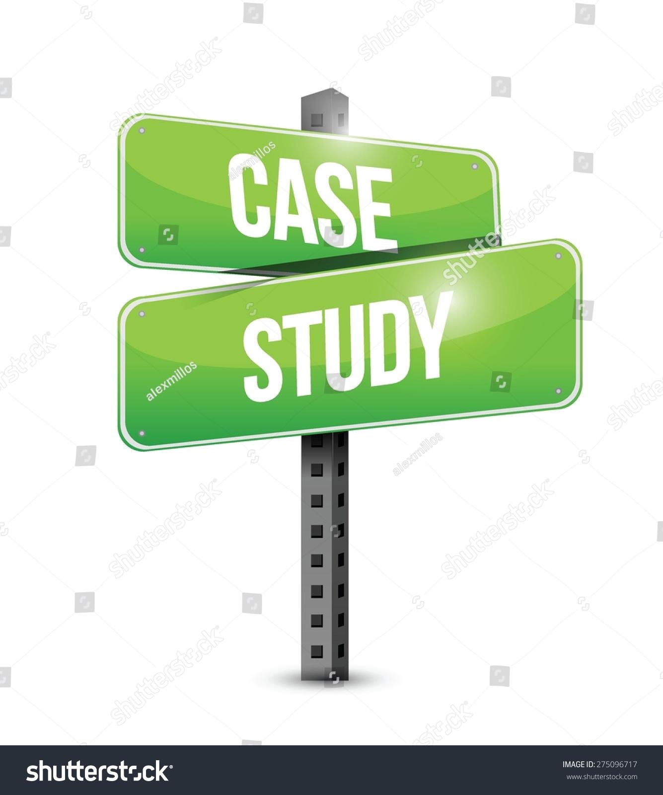 1335x1600 Stock Vector Case Study Street Sign Concept Illustration Design
