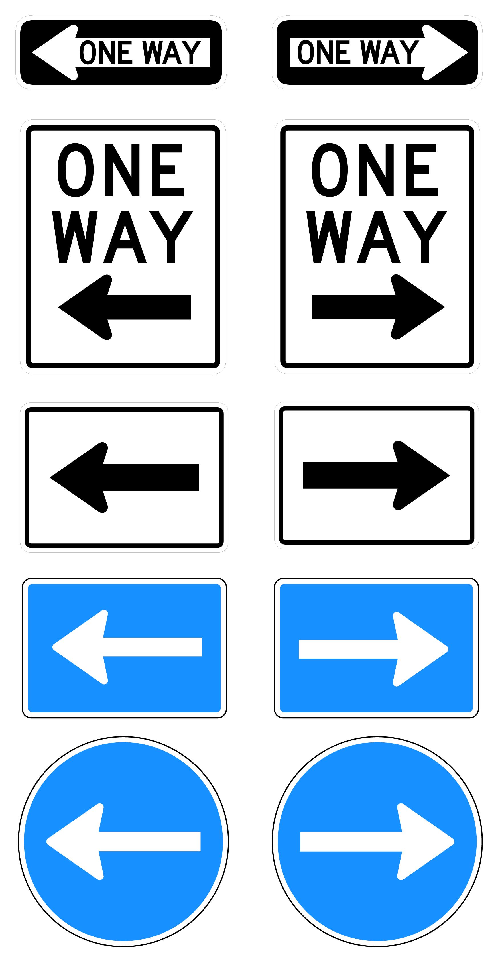 1754x3379 Free One Way Road Sign Vectors Signs Amp Symbols