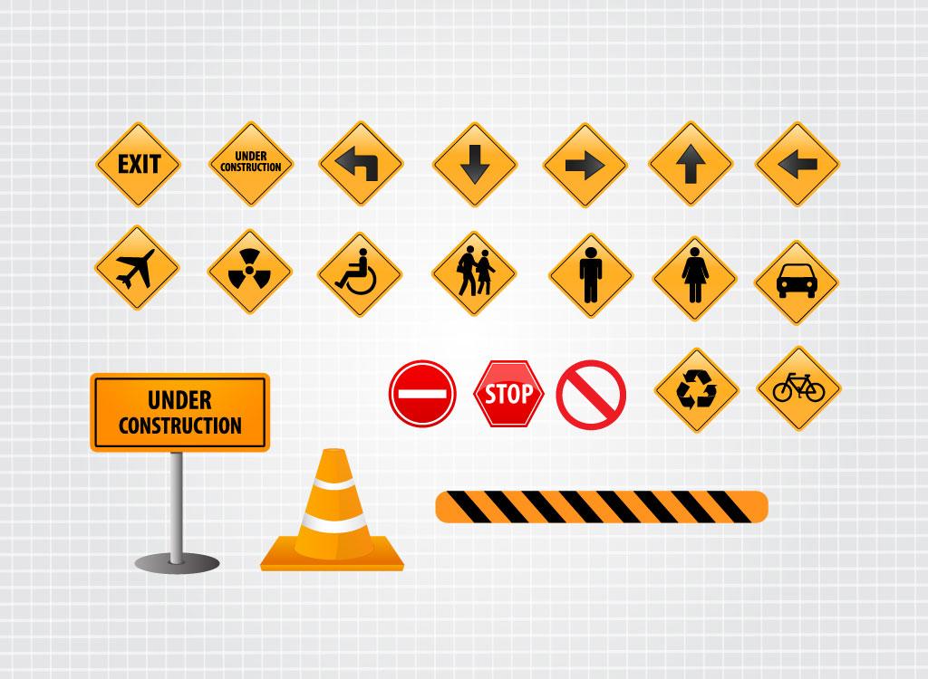 1024x750 Free Street Sign Vectors