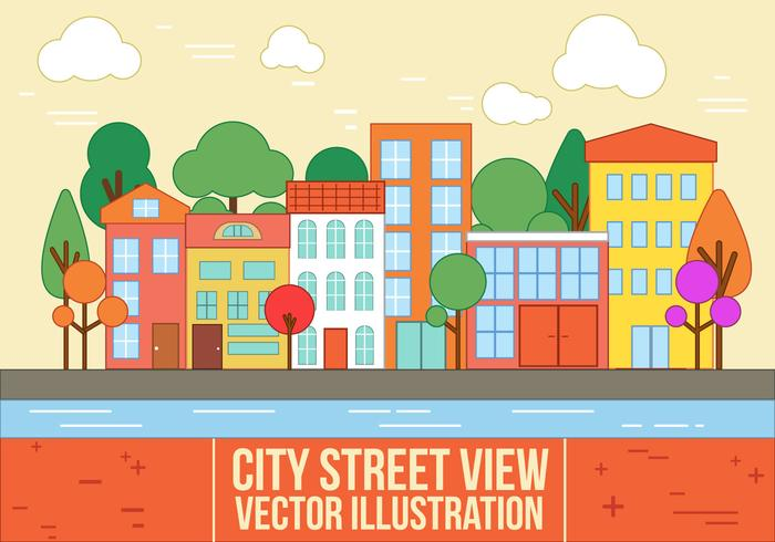 700x490 Free Vector City Street View