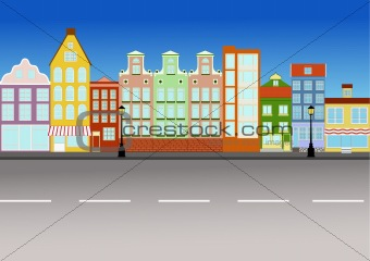340x240 Image 3375129 City Street (Vector) From Crestock Stock Photos