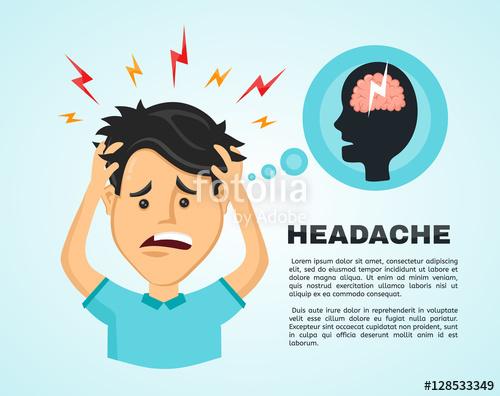 500x396 Headache Clipart Stress Cute Borders, Vectors, Animated, Black And