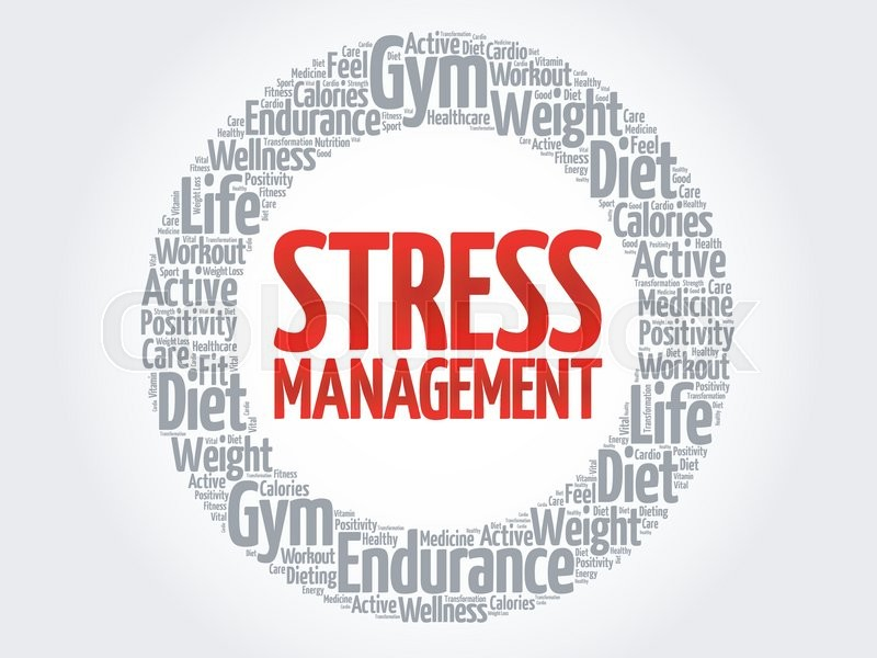 800x600 Stress Management Word Cloud, Health Concept Stock Vector