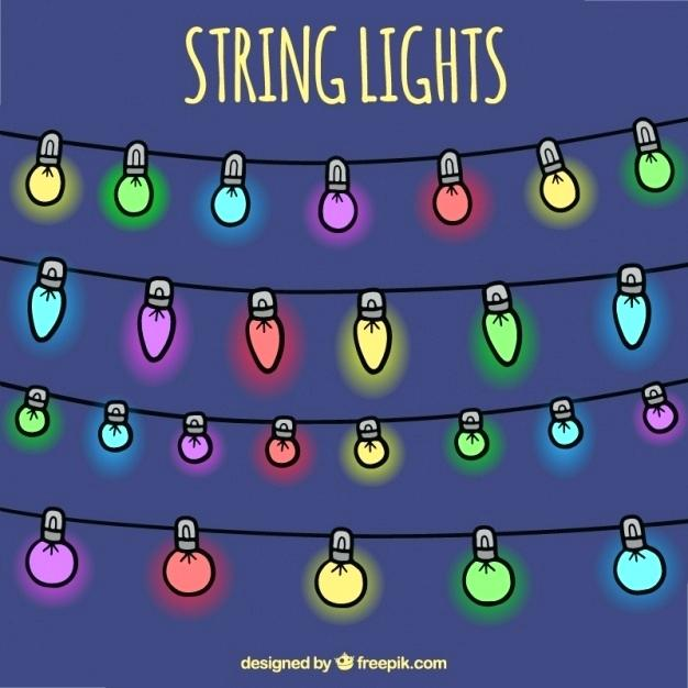 626x626 Colorful String Lights Collection Of Decorative Colored String
