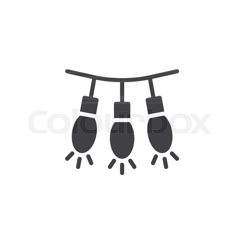 800x800 String Lights Vector Icon. Filled Flat Sign For Mobile Concept And