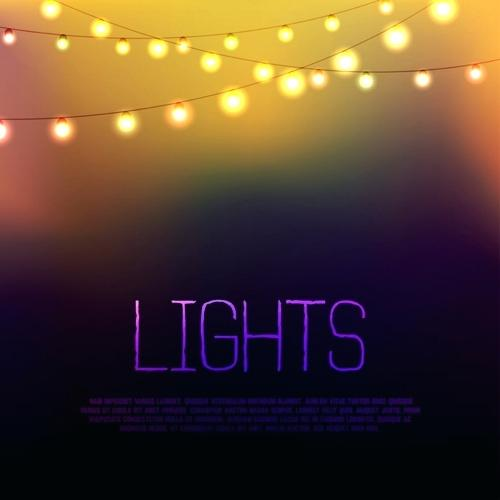 500x500 Lights Vector Blurred Background With String Free Download