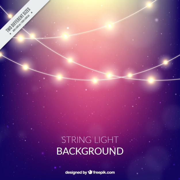 626x626 String Light Background Background With String Lights Free Vector