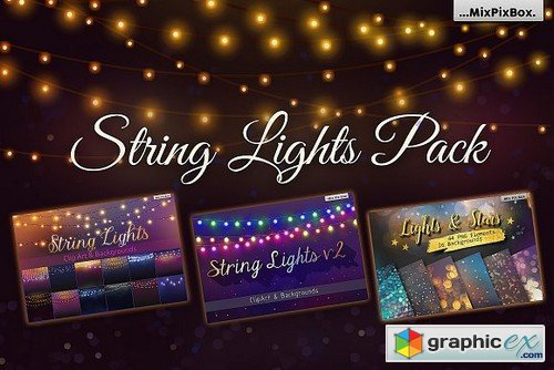 500x334 String Lights Pack Free Download Vector Stock Image Photoshop Icon