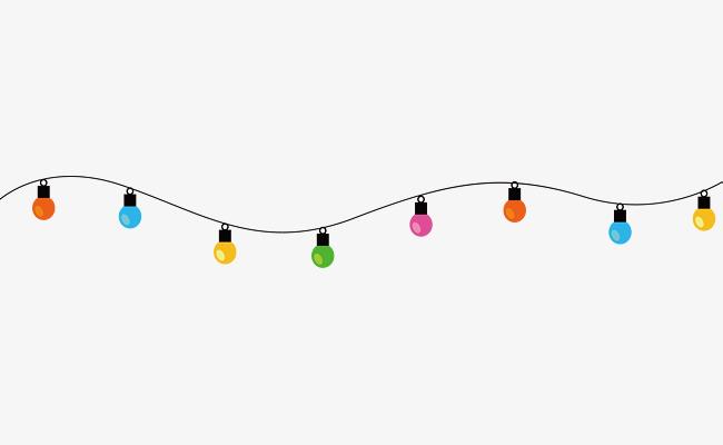 650x400 String Lights Png Elements, String Lights Vector, Light, Cartoon