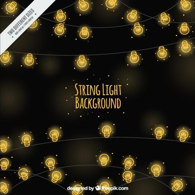626x626 String Light Background Decorative String Lights Vector Background