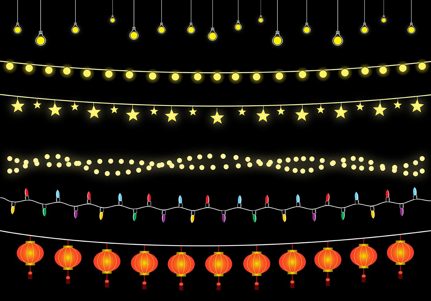 1400x980 Hanging Lights Vector