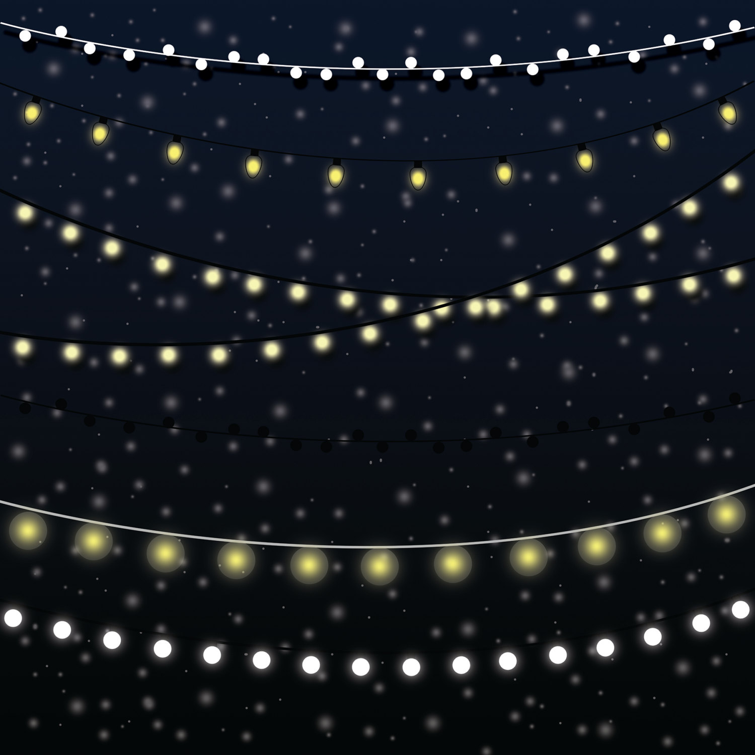 String Of Lights Vector Free