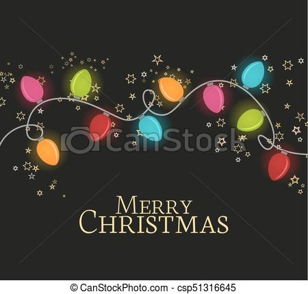 450x429 Vector Illustration Christmas Colorful Lights On A Dark Background
