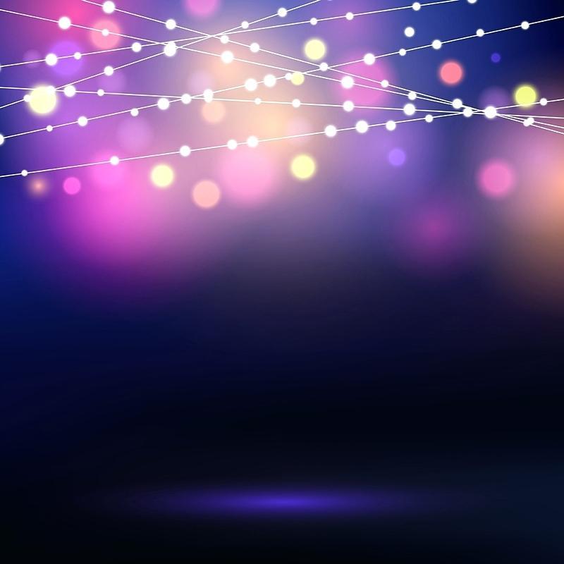 800x800 String Light Background Decorative String Lights Vector Background