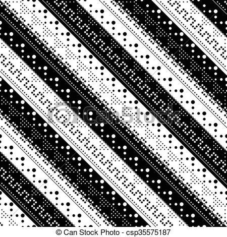 450x470 Seamless Stripe Pattern. Monochrome Texture.