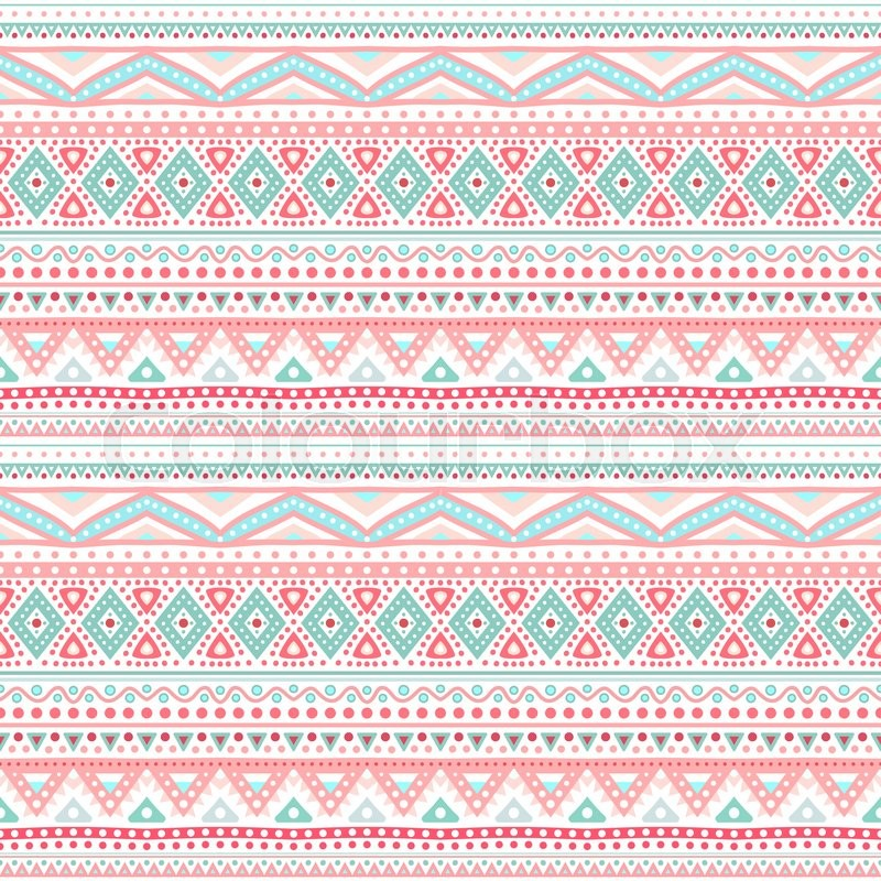 800x800 Tribal Ethnic Seamless Stripe Pattern. Vector Illustration For