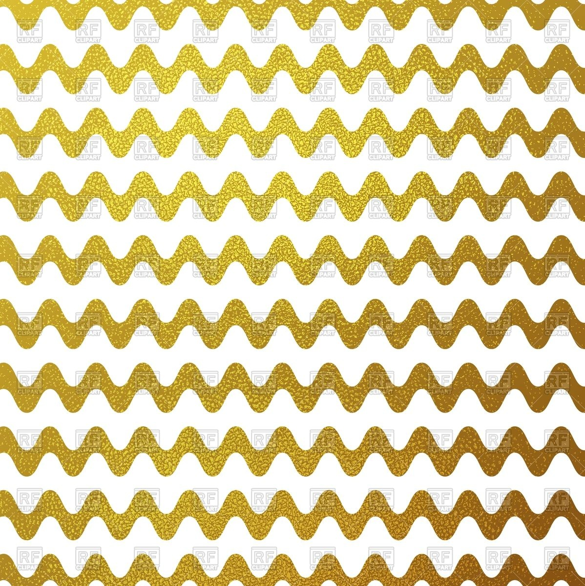 1198x1200 Gold Glitter Wavy Stripes Background Vector Image Vector Artwork