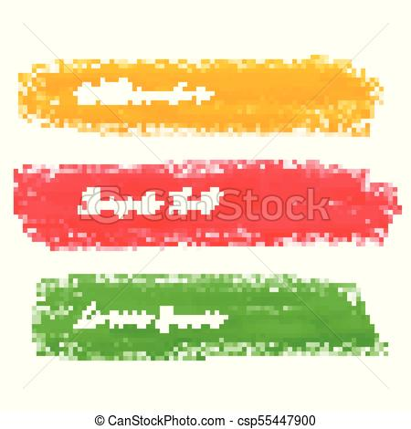 450x470 Set Of Bright Paint Brush Stroke Vector.