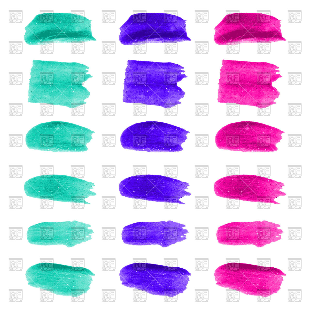 1200x1200 Set Of Color Brush Stroke Vector Image Vector Artwork Of Icons