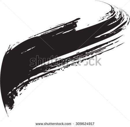 450x441 Vector Grunge Paint Brush . Curved Brush Stroke . Vector Logo