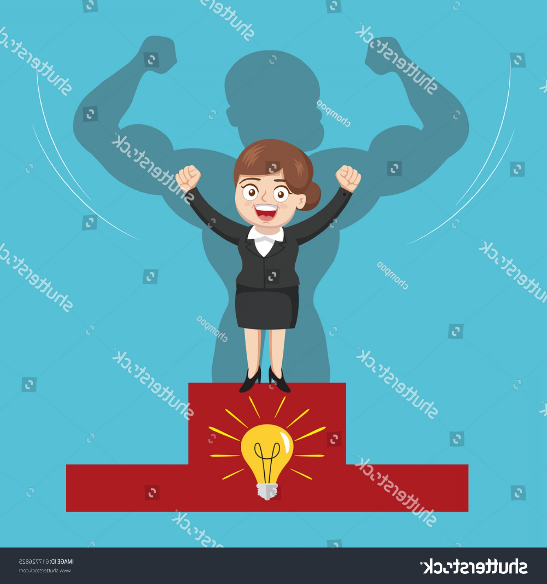 1800x1920 Smart Businesswoman Show Strong Arm Vector Shopatcloth