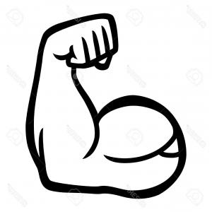 300x300 Stock Illustration Strong Muscle Arm Vector Stock Muscular White