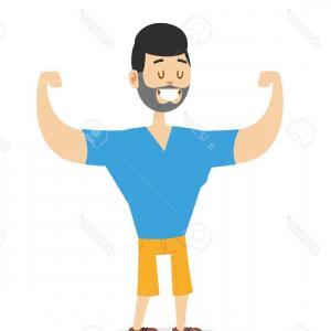 300x300 Strong Man Athlete Cartoon Vector Orangiausa