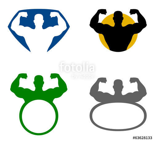 500x460 Strong Man Emblem Stock Image And Royalty Free Vector Files On