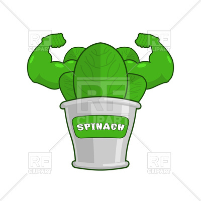 400x400 Strong Spinach Tin Vector Image Vector Artwork Of Food And
