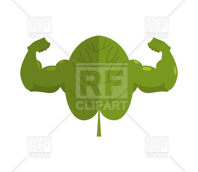 400x349 Strong Spinach With Muscle Vector Image Vector Artwork Of Food