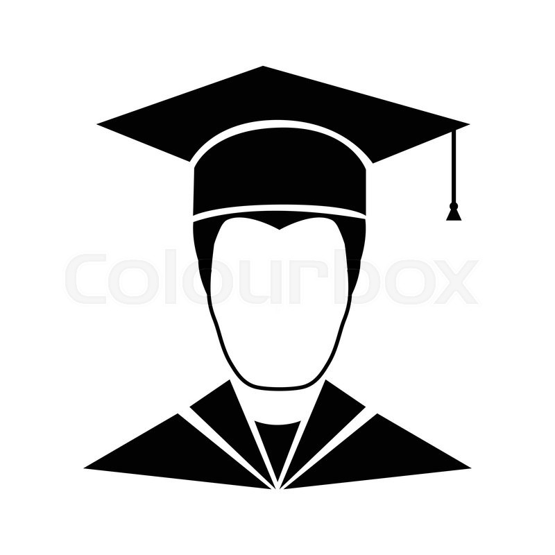 800x800 Graduate Student Icon Isolated On White Background Stock Vector