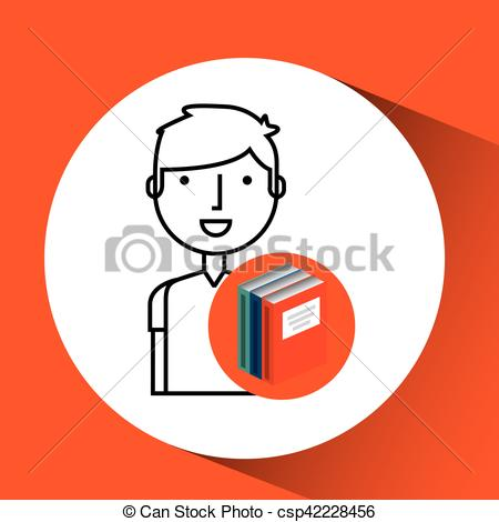 450x470 Library Books School College Student Vector Illustration Eps 10.