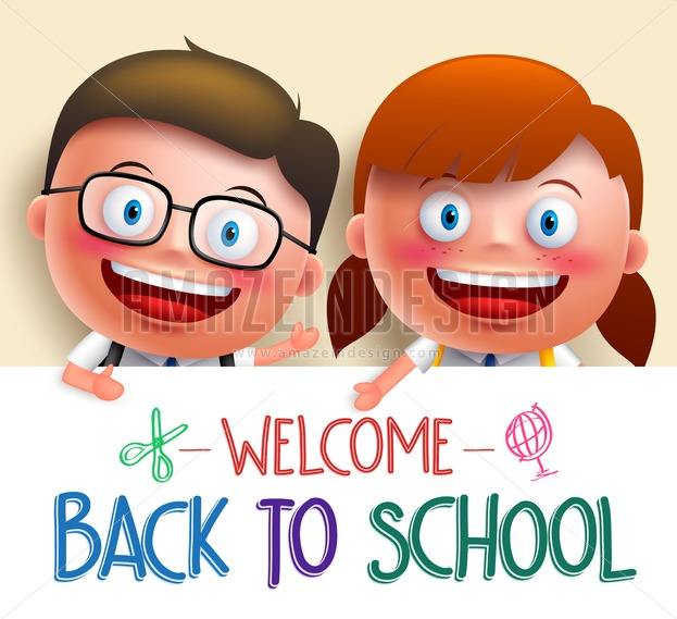 623x569 Student Vector Character With School White Board