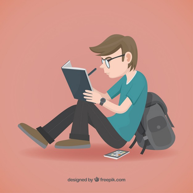 626x626 Student Illustration Vector Free Download