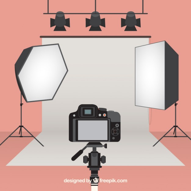 626x626 Equipped Photography Studio Vector Free Download