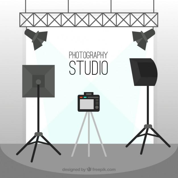 626x626 Flat Photography Studio Vector Free Download