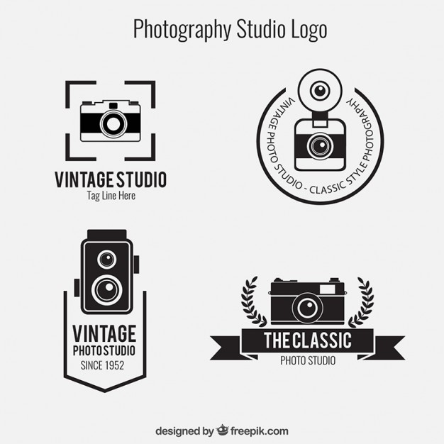 626x626 Photography Studio Logos Pack Vector Free Download