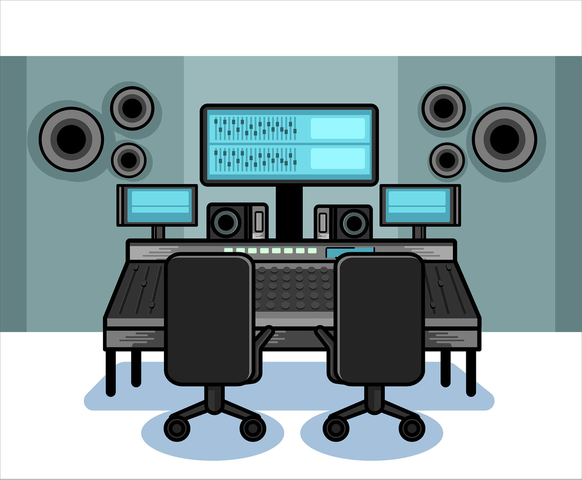1136x936 Recording Studio Equipment Vector Vector Art Amp Graphics
