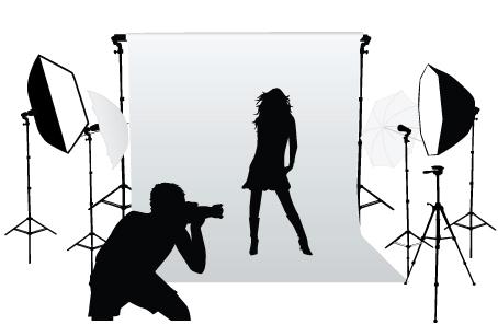 454x297 Elements Of Photographic Studio Photographer Design Vector 01 Free