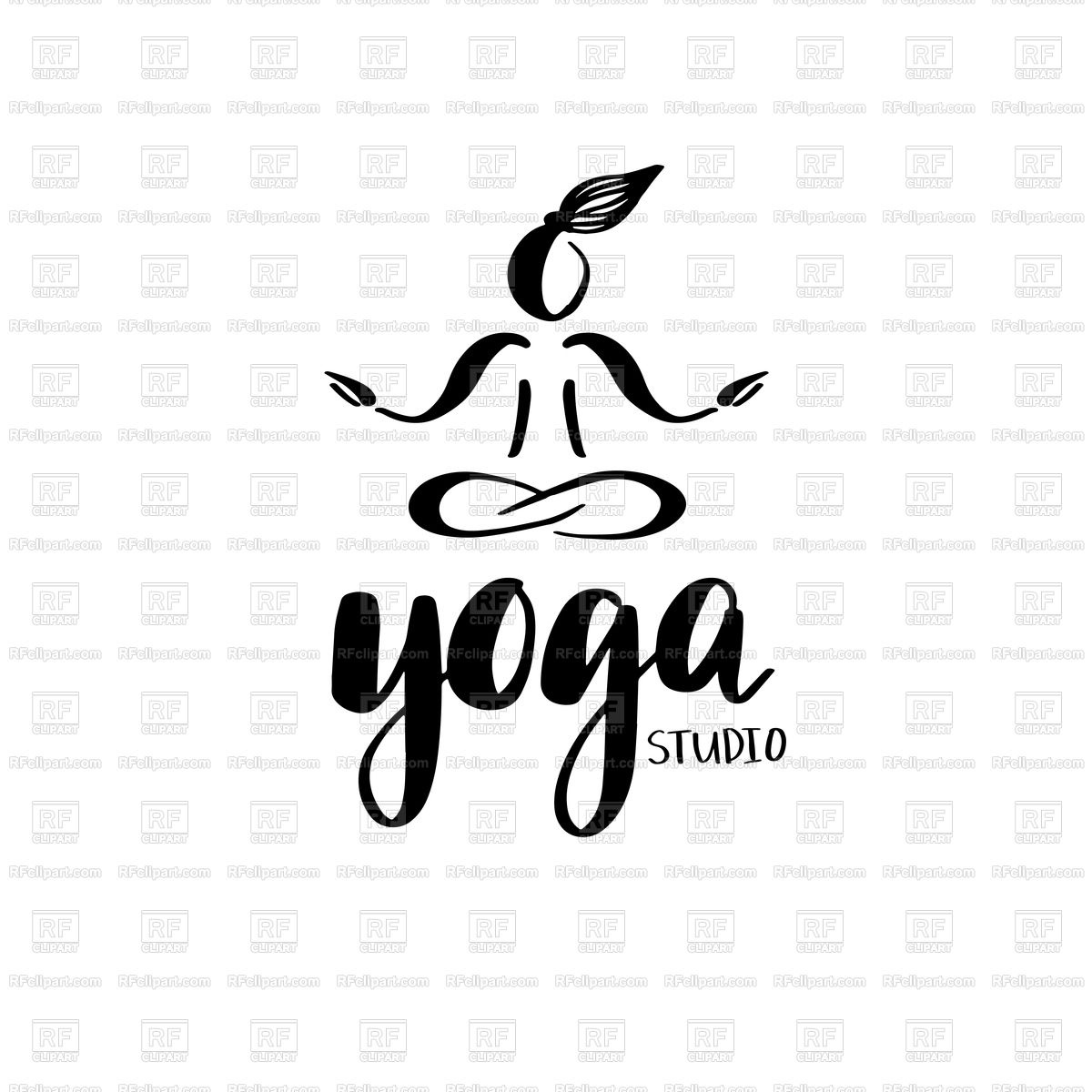 1200x1200 Emblem For Yoga Studio Or Meditation Class Vector Image Vector