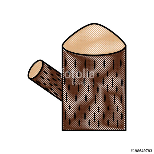 500x500 Trunk Tree Nature Forest Timber And Stump Vector Illustration