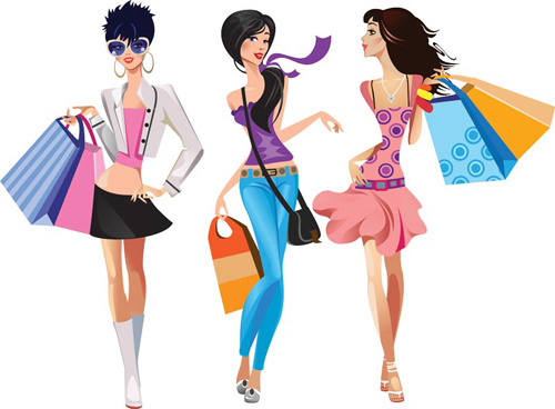 500x368 Fashion Girl Vector Illustration In Sketch Style Free Vector