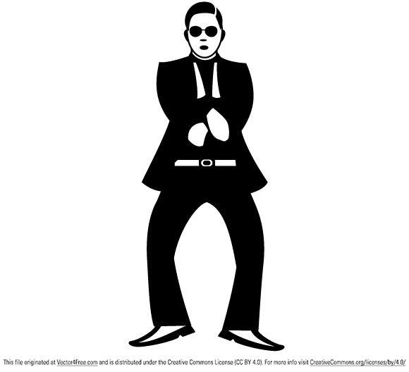 580x528 Free Gangnam Style Dance Vector