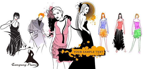 584x284 Vector Fashion Models Free Vector Download (5,131 Free Vector) For