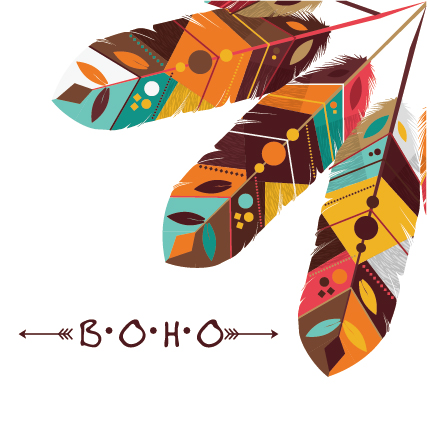 427x427 Boho Style Background Vector Illustration 07 Free Download