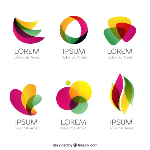 626x626 Colorful Logos In Abstract Style Vector Free Download