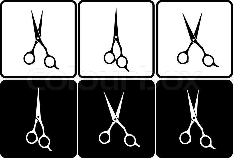 800x543 Hairdresser Scissors Vector