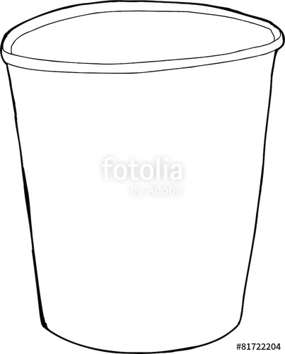 403x500 Cartoon Outline Of Styrofoam Cup Over White Stock Image And