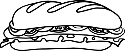 425x174 Free Download Of One Jean Food Sandwich Vic Sub Cartoon Vector