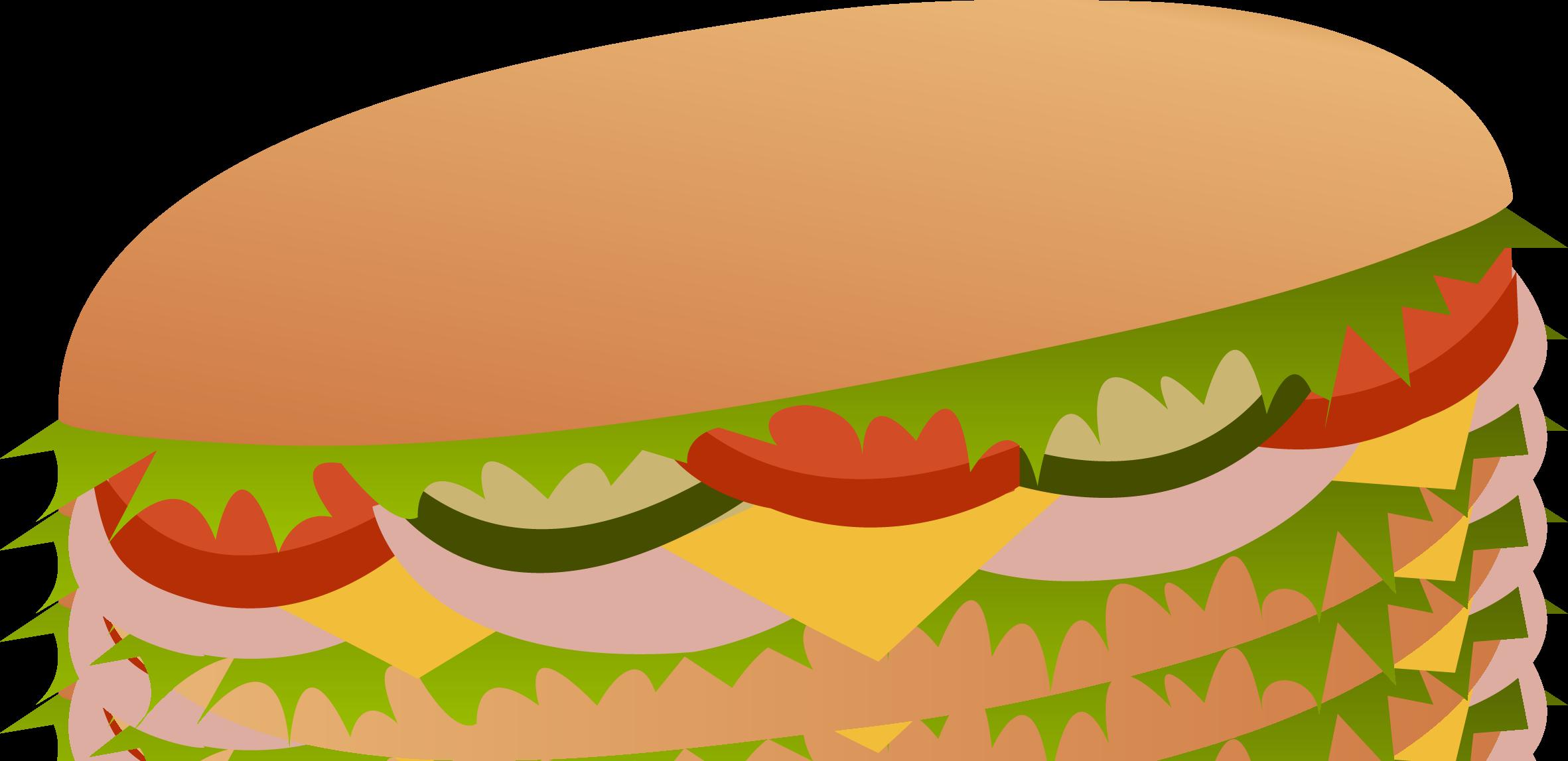 2363x1148 Sub Sandwich Clip Art